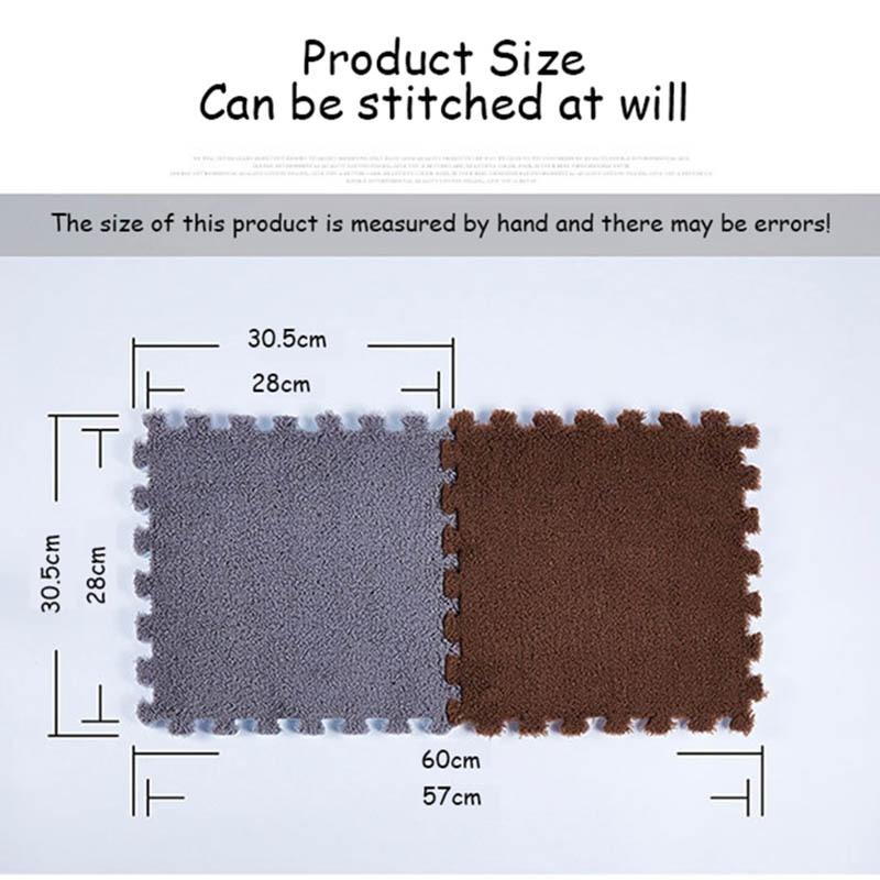 10Pcs/1Set 30*30*1cm EVA Plush Puzzle Mat 27