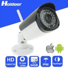 Беспроводной 720 P HD 12 мм Объектив видеонаблюдения P2P Открытый Ик-Камеры Ночного Видения Motion Обнаружения Тревоги По Электронной Почте оповещения Onvif