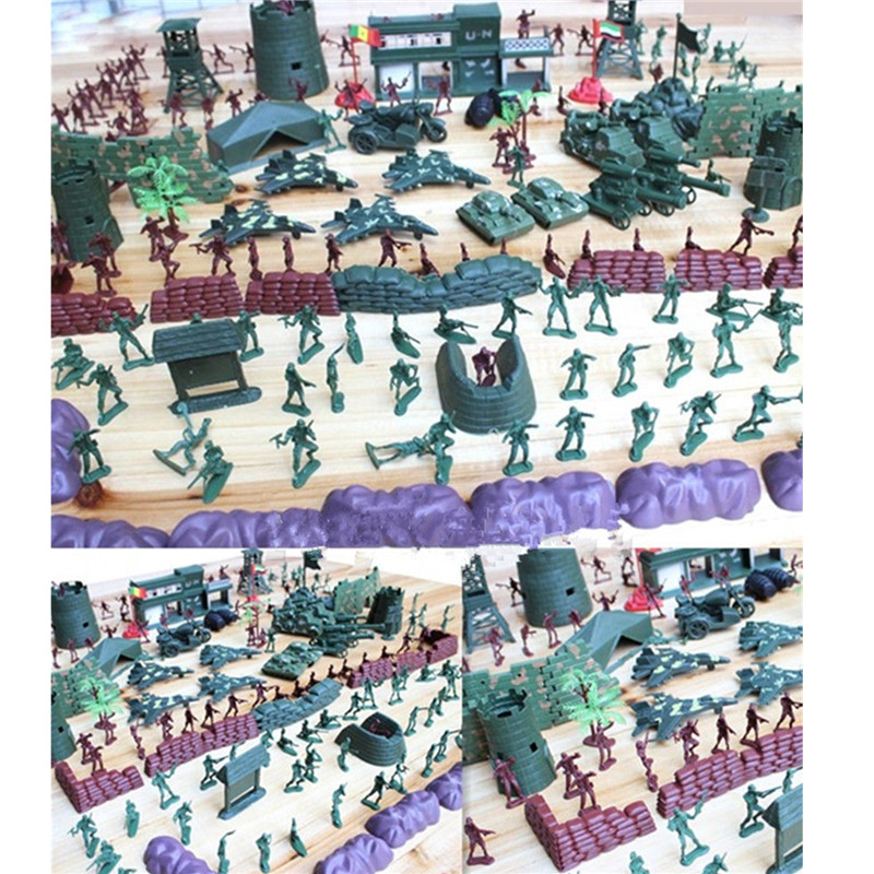 500pcs/set Military Playset Plastic Toy Soldiers Army Men 4cm Action Figures Accessories Model Toys Sets For Children Boys Adult soldiers set military toys model of helicopter tank soldiers the artillery missile toy for boy