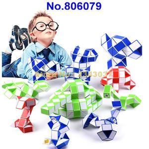 Image 2 - Regla mágica de 210cm de 120 segmentos, cubo giratorio de serpiente, rompecabezas, juguete educativo para niños 806079