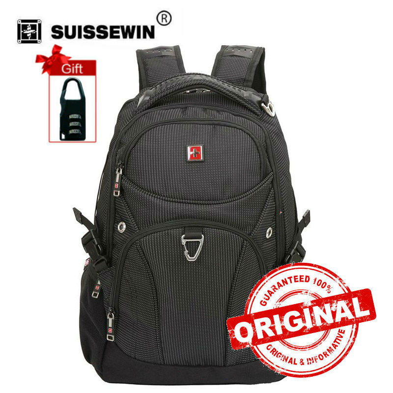 Swisswin Fashion backpack school bag bagpack for men and women Travel Shoulder Bag mochila 15.6 laptop bag New Arrival sw9220 14 15 15 6 inch flax linen laptop notebook backpack bags case school backpack for travel shopping climbing men women