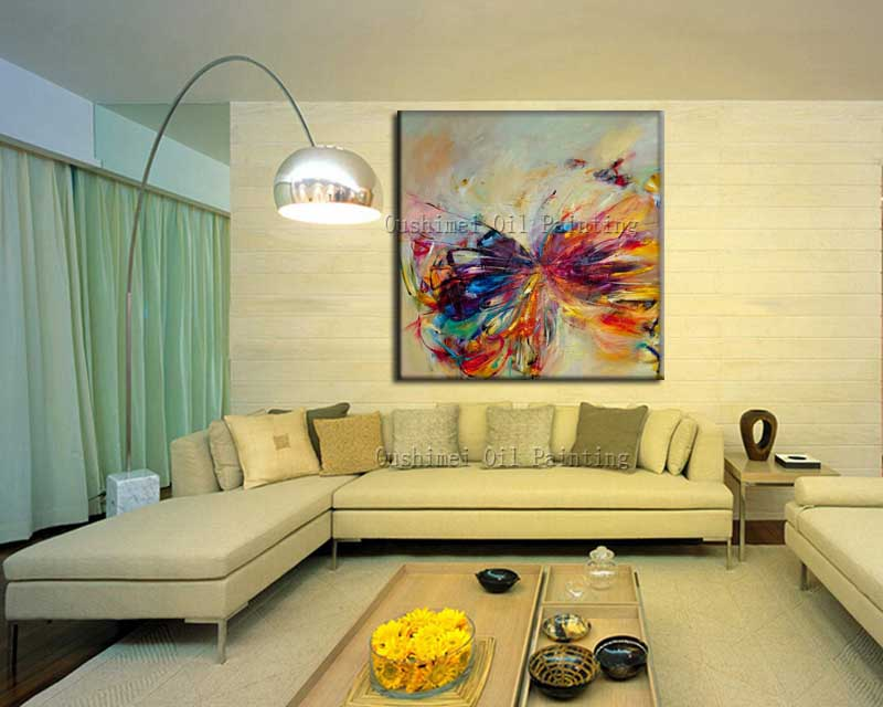 Hand Painted Abstract Animal Oil Painting On Canvas Wall Art ...