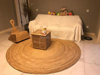 New Coming Southeast Asian Style carpet Natural Reed round carpet Hand made rattan grass rugs and carpets for home living room