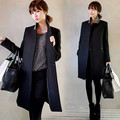 Novos casacos femininos mulheres casaco Trespassado Casaco de Lã das Mulheres Fino Outono casaco de lã Inverno fino casaco de inverno mulheres