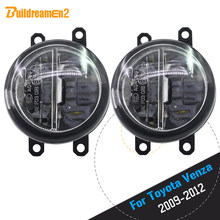Buildreamen2 2 X Car Styling 4000LM LED Bulb Fog Light Daytime Running Lamp DRL 12V For Toyota Venza 2009 2010 2011 2012(China)