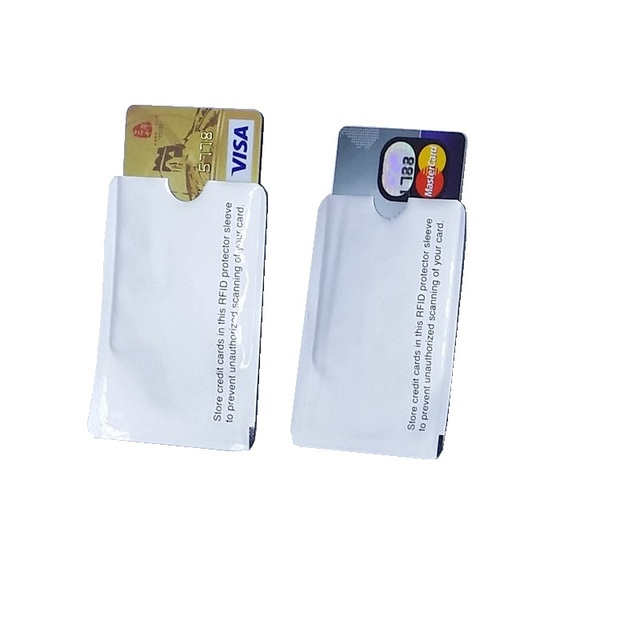 NFC shielded sleeve RFID cardBlocking 13.56mhz IC card Protection NFC security card  prevent unauthorized scanning