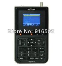 2pcs/ Lot SATLINK WS-6906 DVS-S FTA Digital Satellite Finder Meter Satellite TV Receiver 3.5 Inch LCD Support QPSK