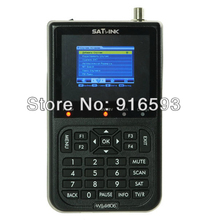 2pcs/ Lot SATLINK WS-6906 DVS-S FTA Digital Satellite Finder Meter Satellite TV Receiver 3.5 Inch LCD Support QPSK