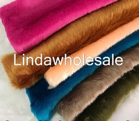 Good Quality Imitation Rabbit Fur Plush Fabric Felt Cloth Carpet Decoration Clothing Shoes Material 160cm 50cm