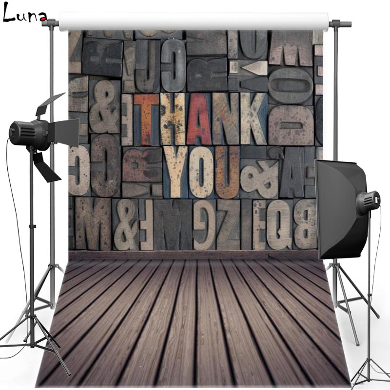 MEHOFOTO Letter Wall Vinyl Photography Background For Wedding Wood Floor Photo New Fabric FlanneBackground For Photo Studio 2138