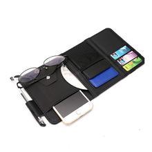 Автомобиль козырек от солнца органайзер для хранения клип с молнией салона Аксессуары Солнцезащитные очки ручка CD карты небольшие файлы сумка для хранения