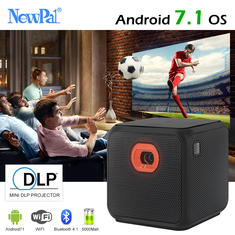 Ultramini DLP 3D Projector NP2 WIFI Android7.1 Full HD Pocket Mini Beamer 110inches Miracast DLNA Airplay with 5000mah Battery newpal dlp projector full hd video mini 3d projector android 7 0 portable beamer support wifi miracast airplay dlna tf tv
