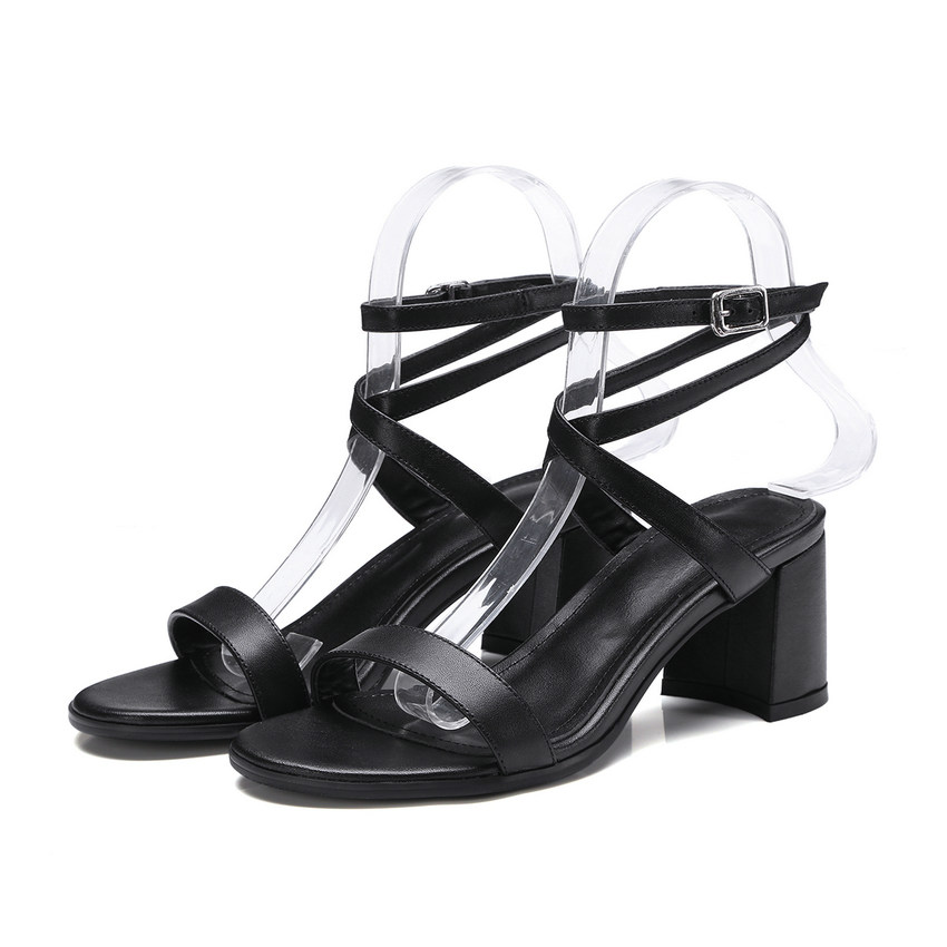 Style Carré 34 Plate Vache Match Pu Les Sandales Talons Taille bleu Qutaa En Westrn forme À 2018 De Tous Hauts 43 Femmes Noir Chaussures Cuir HE29ID