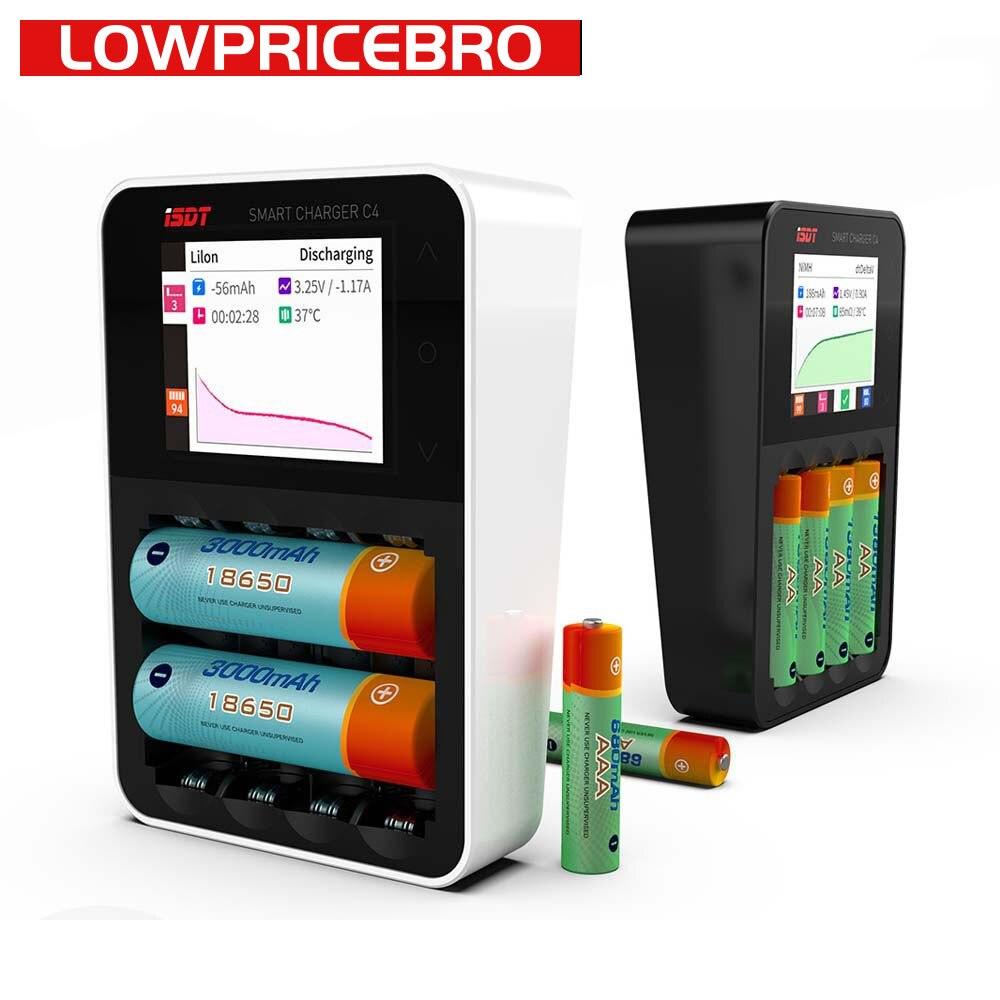 ISDT C4 8A Touch Screen Smart Battery Charger con Uscita USB per 18650 26650 AA AAA Batteria con IPS Display schermo-in Componenti e accessori da Giocattoli e hobby su  Gruppo 1