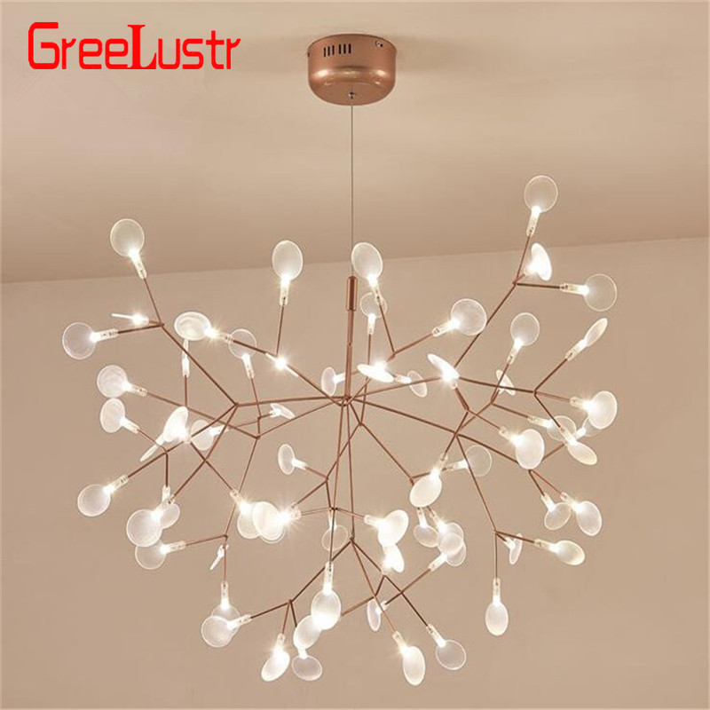 Modern Tree Branch led Chandelier Light Acrylic Firefly G4 Chandeliers Ceiling lamp for Bedroom Art Decor hanging light fixture