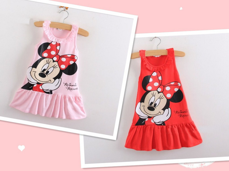 Adorable Minnie girl dress/Summer cool girls frock/2016 good quality baby clothing - baby-kids store