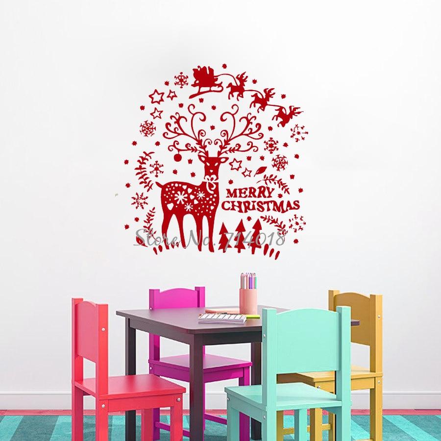 Christmas Wall Art Online Get Cheap Reindeer Wall Art Aliexpresscom Alibaba Group