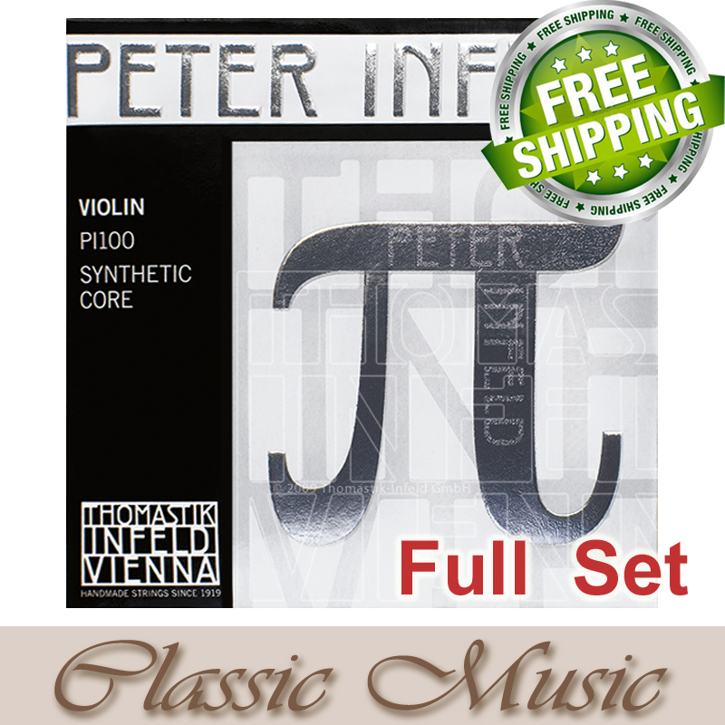 Thomastik Peter Infeld 4/4 Violin Strings Full Set (PI100) Platinum E-Silver D Violin Strings . Made in Austria. free shipping, free shipping evah pirazzi violin strings full set ball end made in germany for 4 4
