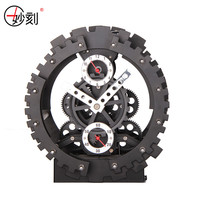 New Creative Large Gear Wall Clock Fashion Mechanical Gear Table Clock For Modern Home Decor Desktop Vintage Alarm Clocks