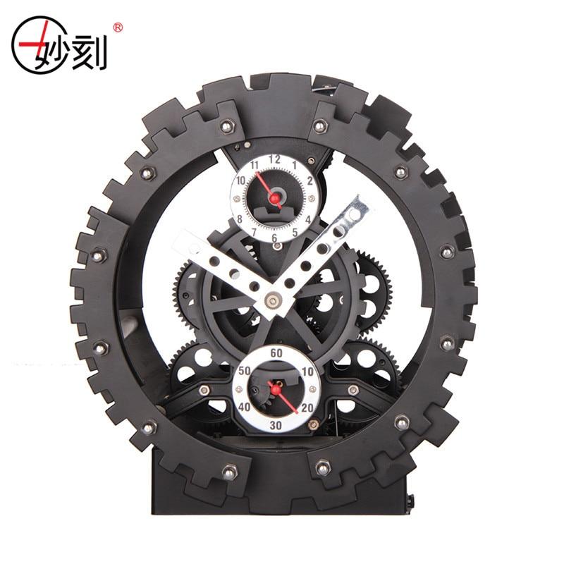 Tischuhr Kreative Mode Große Mechanische Getriebe Uhr ABS Material - Wohnkultur