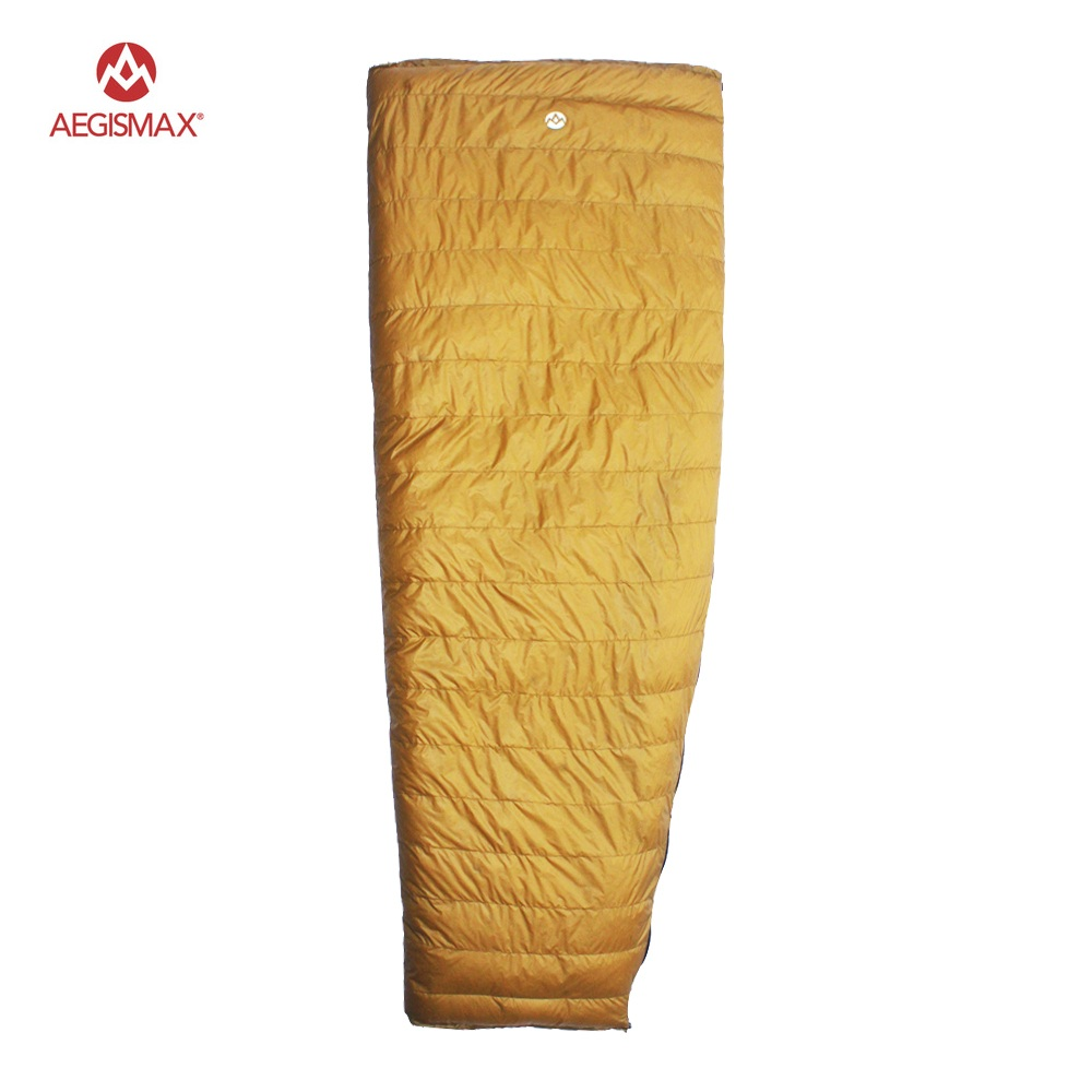 AEGISMAX Outdoor Envelope 95% White Goose Down Sleeping Bag Camping Hiking Equipment FP800 M L aegismax 95