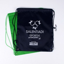 Simple sport gym bag cheap drawstring backpack with logo printed