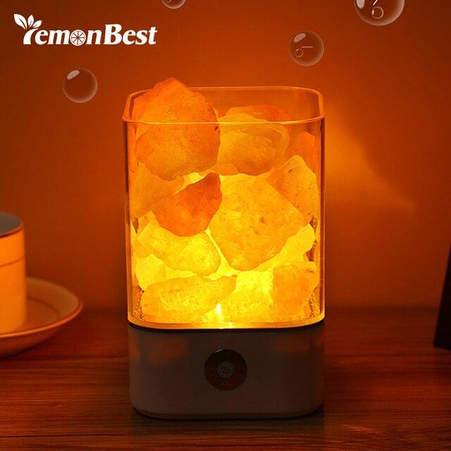 Lampe A Sel En Cristal Yoga 3d Veilleuse Avec Le Commutateur De
