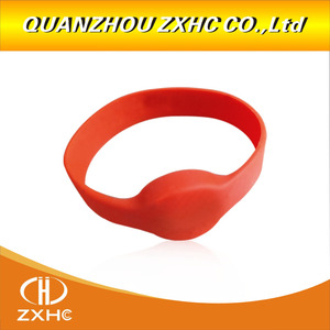 Image 3 - 13.56Mhz MF1108 (S50 Compatible) ISO14443A RFID Waterproof Smart Silicone Wristband Bracelet