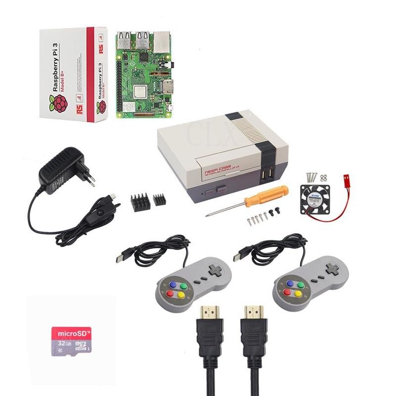 NESPi CASE Raspberry Pi 3 Model B B Kits 32GB SD card 3A Power Adapter Heat
