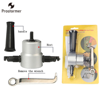 Prostormer Double Head Metal Sheet Cutter Sheet Nibbler Saw Cutter Tool Drill Attachment Cutting Tool Nibbler