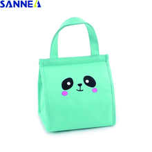 SANNE Cartoon cute animal Fashion Thermal Lunch Bag Cooler Box Polyester Oxford Portable Multifunction lunch for Kids
