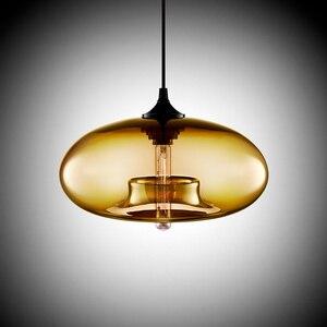 Image 5 - Bắc Âu Hiện Đại Treo Đèn Chùm 7 Màu Sắc Kính Lustre Mặt Dây Chuyền Đèn Công Nghiệp Trang Trí Đèn Gắn Xe Đạp E27/E26 Cho Nhà Bếp Nhà Hàng