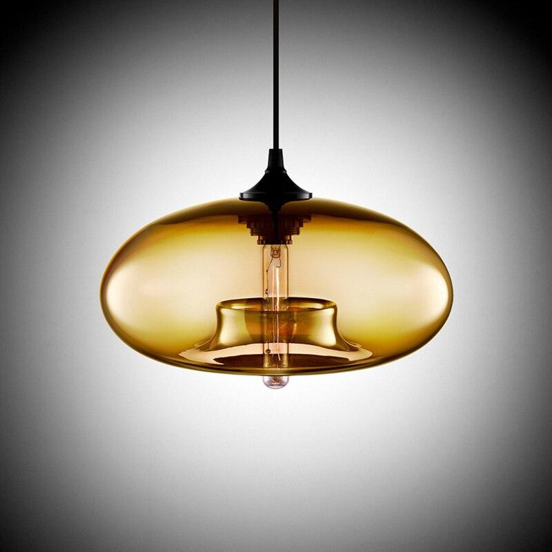 Nordique moderne suspendu loft 7 couleur verre lustre suspension lampe industrielle décor luminaires E27/E26 pour cuisine Restaurant - 6