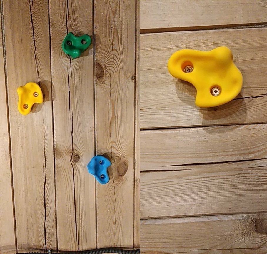 Rock Climbing Wall Stones Hand Feet Holds Grip Kits For Children Outdoor Climbing Fun Play Toy- Small Size