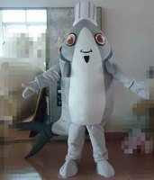 100 In Kind Shooting Grey Flounder Mascot Costume Adult Flounder Costume Fish Costume