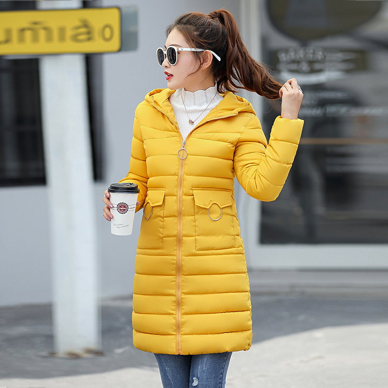 Winter Jacket New Fashion Women Down Jacket Slim Large Size Hooded Jacket Students Women Thick Warm Cotton Outwear #4
