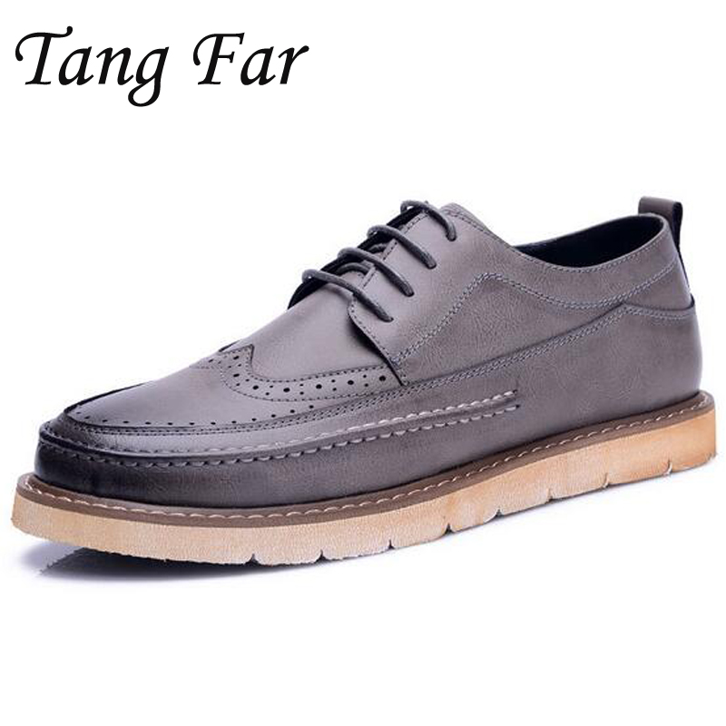 Brand Mens Oxford Shoes British Carved Men Brogue Shoes Vintage Round Toe Slip On Men Casual Shoes Lace-Up Business Men's Flats chinedu chinedu the debt growth link in sub saharan africa
