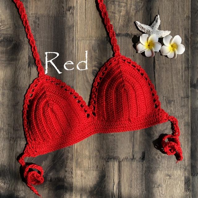 Mujer Crochet Bikini Top 3