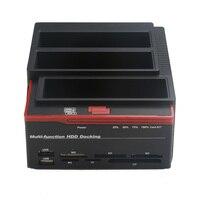 2.5/3.5 USB 3.0 to 2 SATA 1 IDE HDD Hard Drive Disk Docking Station Card Reader USB3.0 M2 TF SD Slot Hub