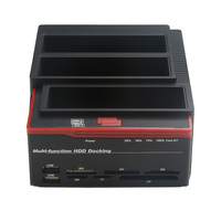 2.5/3.5 USB 3.0 to 2 SATA 1 IDE HDD Hard Drive Disk Docking Station Card Reader USB3.0 M2 TF SD Slot Hub