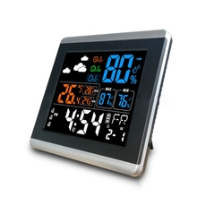 DC-005 Smart Home Digital Wireless Colorful Screen Clock Weather Station Thermometer Hygrometer Alarm Clock Temperature Gauge
