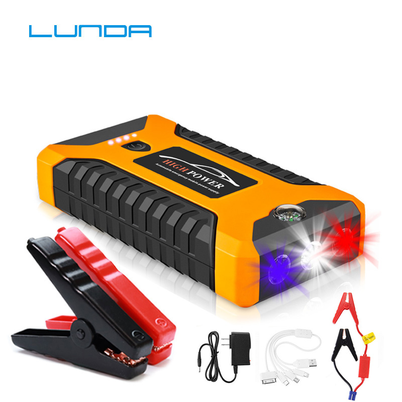 4.0L Gas Emergency Starting Device Car Jump Starter 12V Portable Power Bank Auto Charger for Car Battery Booster