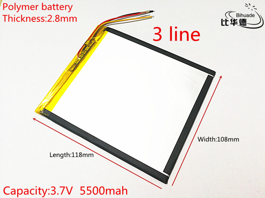 10 шт./лот литиевая батарея 3 линии 28108118 3,7 в 5000 мАч для VI40 V971 двухъядерная версия батареи