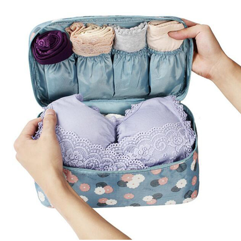 Multifunctional Large Capacity Storage Cosmetic Bag Wash Bags Travel Bra Sorting Organizer Bags Wash Bra Underwear MakeUp Case