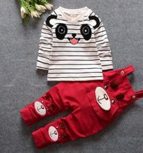 2018 Children's Clothing New Boy Clothes Baby Girl Clothes Set Spring and Autumn Lovely Kids Overalls Suit  1 2 3 4 year QHQ023