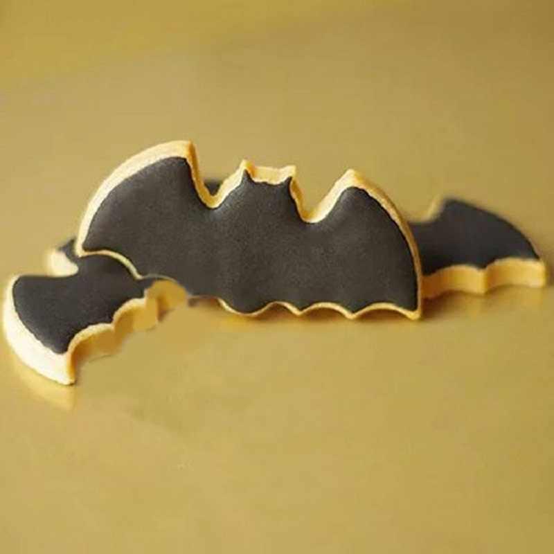Halloween Kelelawar Cookie Alat Cutter Biscuit Tekan Icing Set Stamp Cetakan Stainless Steel Pastry Alat Dapur Aksesoris