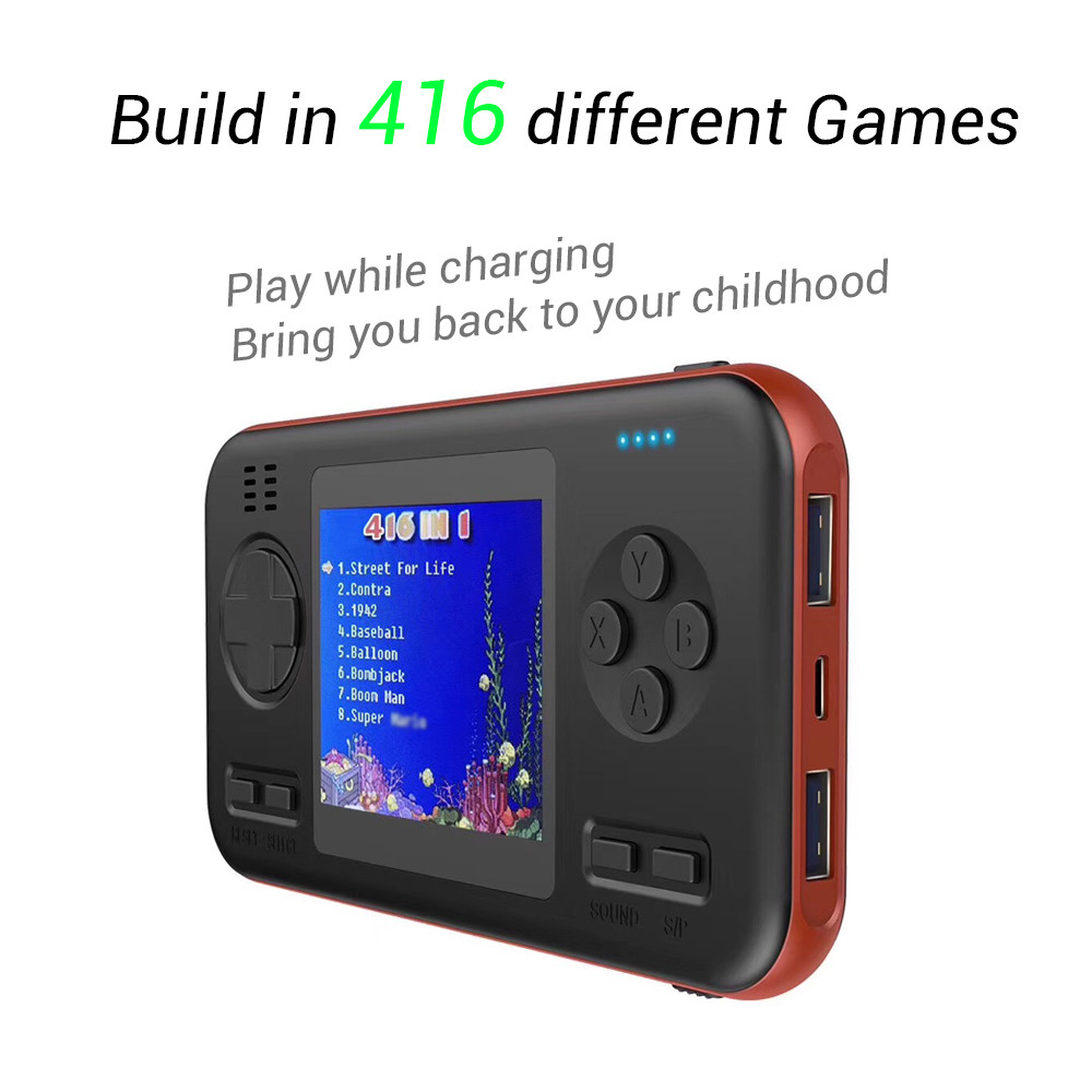 shandaddy Built-in 416 Games wth 8000mAh Battery power bank Retro Video