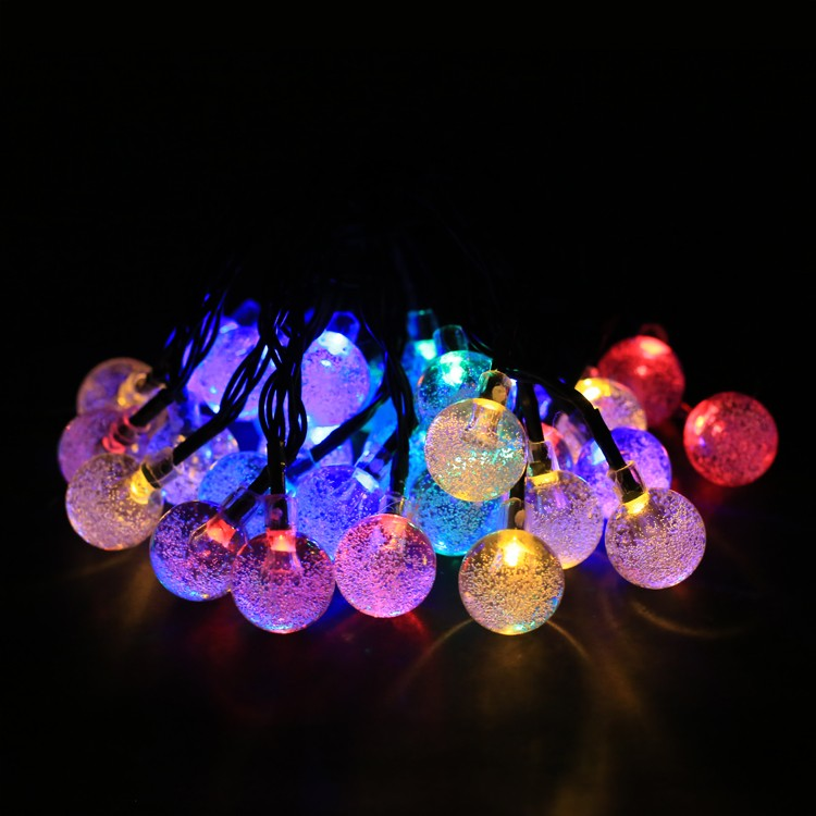 6.5 M led String Lights with 30 led ball holiday decoration lamp Festival Christmas lights outdoor lighting 63 10m 100 led 110v 8 mode fancy ball lights decorative christmas party festival twinkle string lamp strip rgb us plug