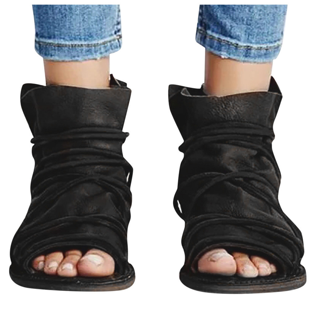 Flat Sandals Beach-Shoes Soft Female Plus-Size Genuine-Leather Summer Women Casual 43