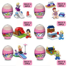 6PCS/LOT Marvel Super Hero Princes Surprise Eggs Hatching Egg Doll Figures Building Blocks Toy For Children Gift XD319